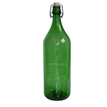 Butelka 2L zielona+ zamknięcie pałąk