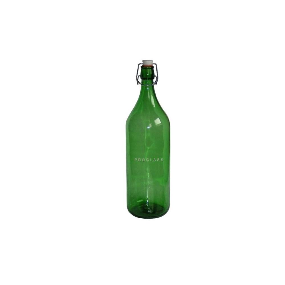 Butelka 2L zielona na zamknięcie pałąk